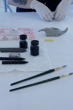 5. Modelling clay, drawing, ink all used together to make object and draw new context